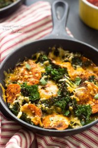 Healthy Nachos With Kale & Spicy Sweet Potatoes