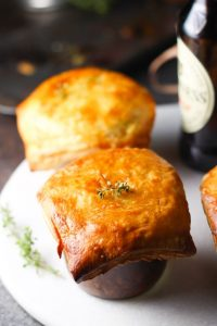 Irish Stout Mason Jar Beef Pot Pies