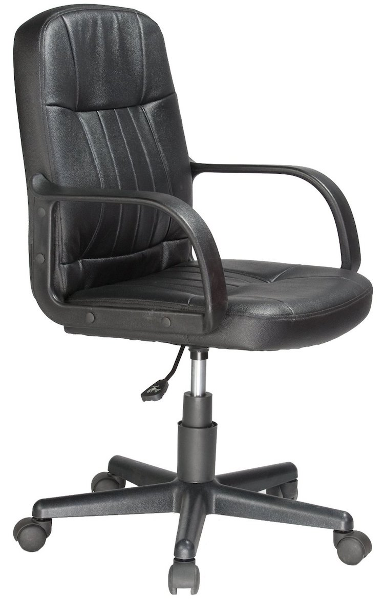 Mid-Back Leather Office Chair by Comfort Products