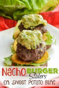 Nacho Burger Sliders On Sweet Potato Buns