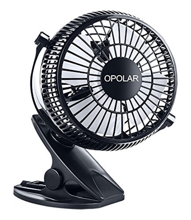OPOLAR F901 Rechargeable Clip and Desktop Fan