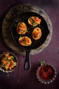 Pumpkin Masala Deviled Eggs