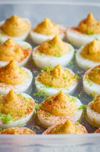 Roasted Garlic Chipotle Deviled Eggs