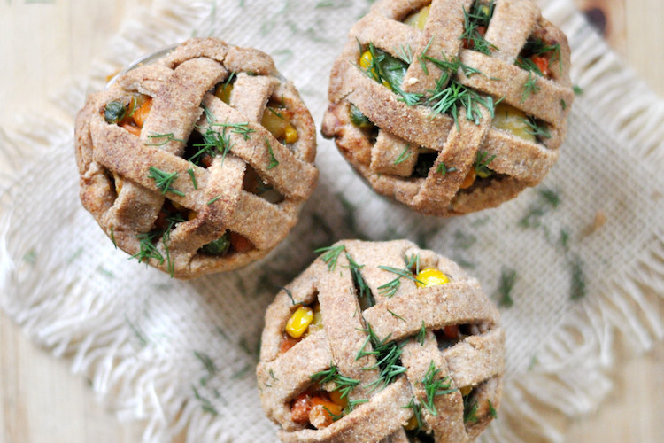 Vegan Mini Pot Pie Jars