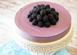 gluten free vegan blackberry cheesecake