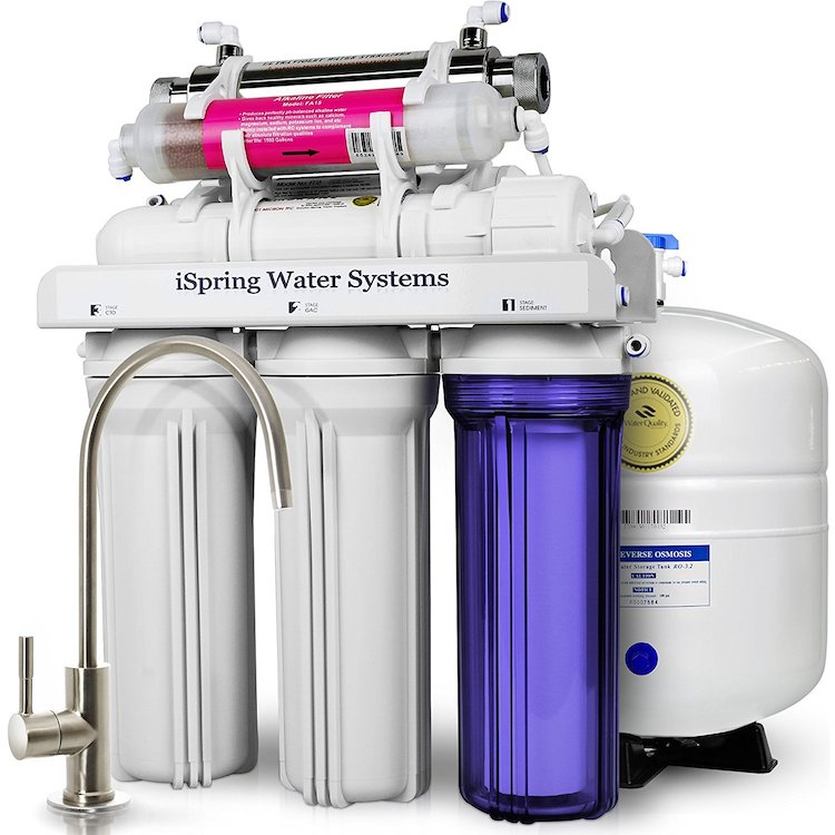 iSpring 7-Stage 75GPD Reverse Osmosis Water Filter