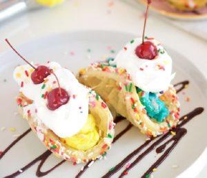 ice cream sundae tacos