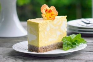 mango and turmeric cheesecake