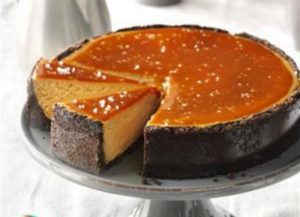 salted caramel cappuccino cheesecake