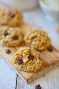 Chunky Dark Chocolate Coconut Oat Cookies1