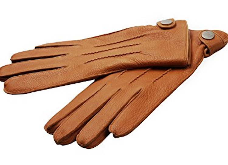 ELMA Deerskin Leather Winter Driving Cashmere Lined Gloves