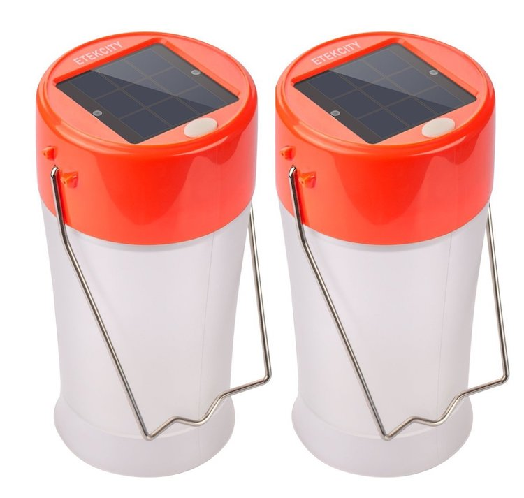 Etekcity 2 Pack Portable Outdoor Rechargeable Solar Camping Lantern