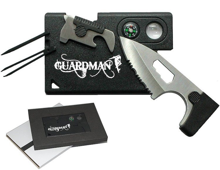 Guardman Credit Card Knife Tool 10 in 1 Camping Knife