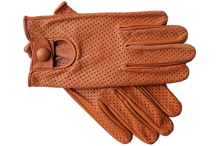 Riparo Motorsports Genuine Leather Mesh Driving Gloves