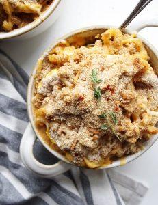 Smoky Delicata Baked Macaroni & Cheese