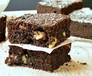 sugar-free pecan brownies