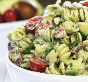 Avocado Cold Pasta Salad