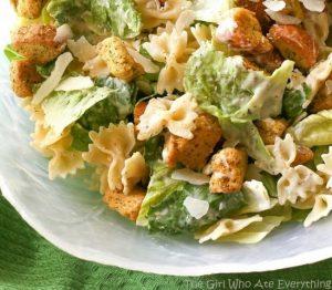 Bow Tie Chicken Caesar Pasta Salad
