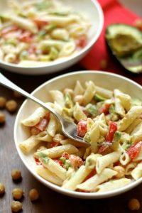 Chickpea Avocado Pasta Salad