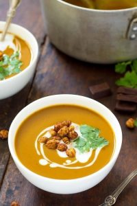 Chocolate Roasted Butternut Squash Soup