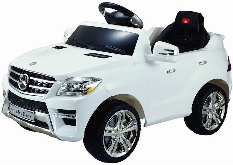 Costzon White Mercedes Benz ML350 6V Electric Kids Ride On Car