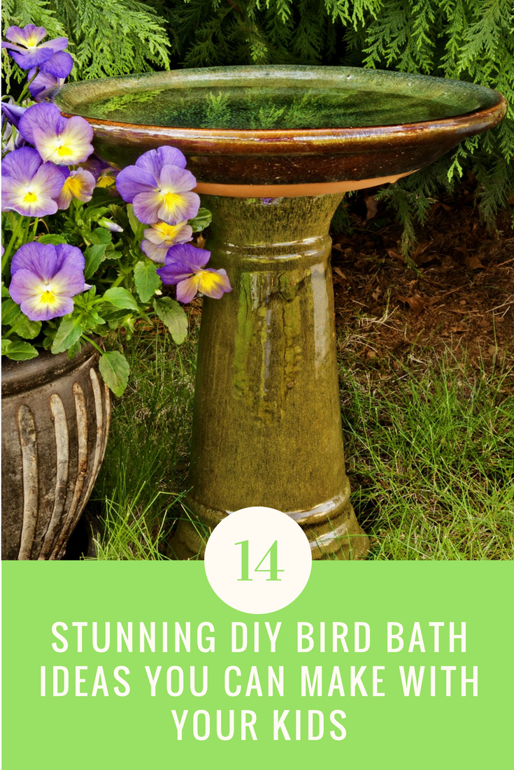 14 Stunning DIY Bird Bath Ideas You Can Make With Your Kids. | Ideahacks.com