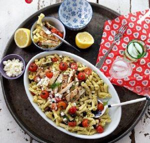 Grilled Greek Chicken Pasta Salad