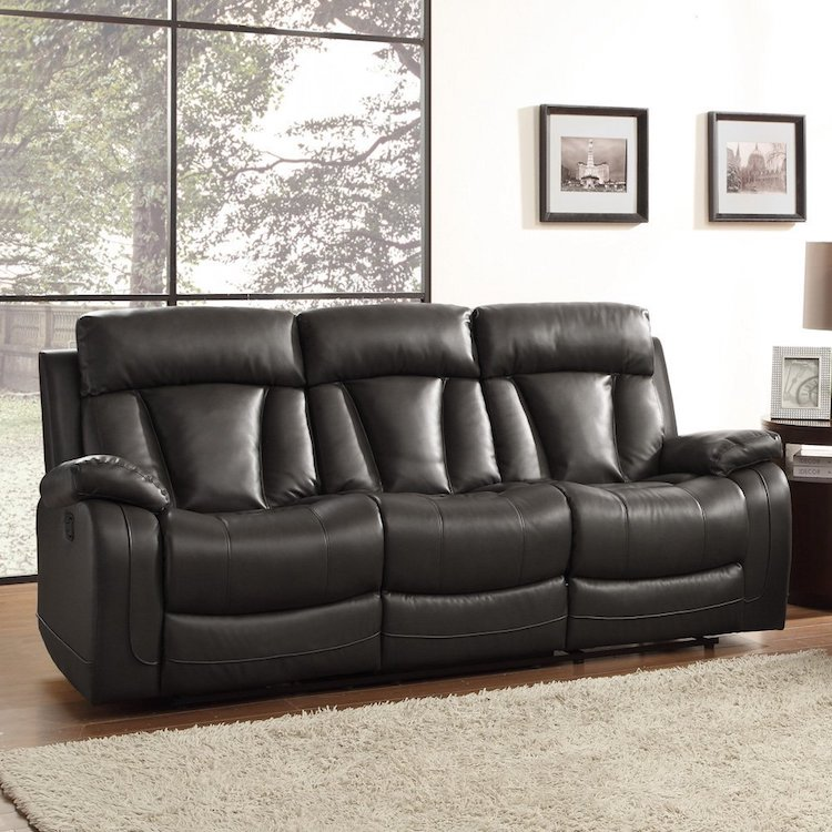 Homelegance 8500BLK U2013 3 Seat Reclining Sofa