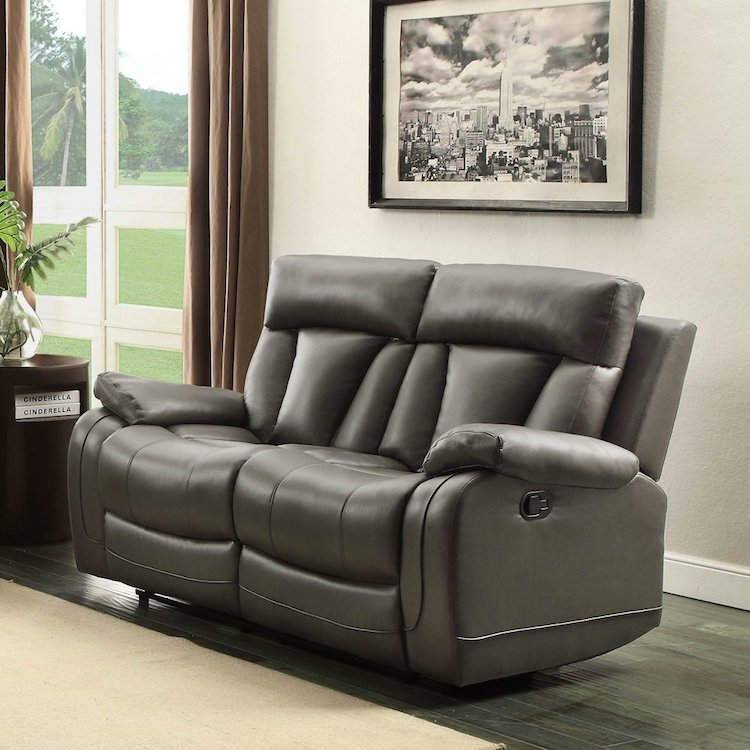 Homelegance 8500GRY  2 Seat Reclining Sofa
