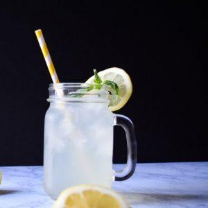 Honey Sweetened Basil Lemonade