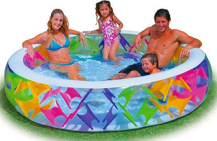 Intex Swim Center Pinwheel Inflatable Pool