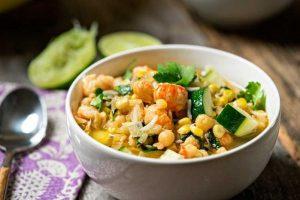 Langostino Corn & Chickpea Soup