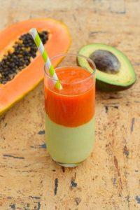 Papaya Avocado Smoothie