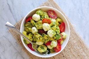 Pesto Tortellini Salad with Fresh Mozzarella