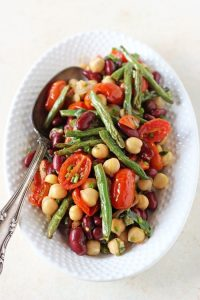 Roasted Three Bean Salad