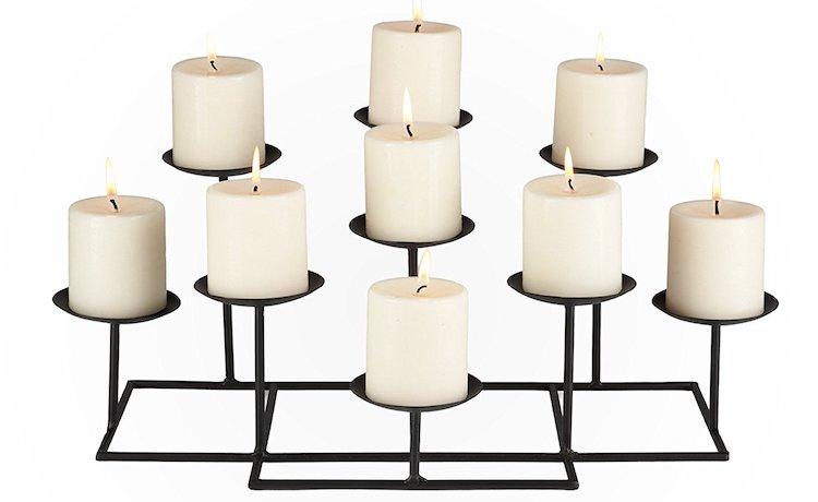SEI 9-Candle Metal Candelabra