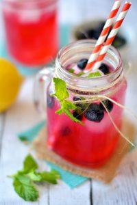 Sparkling Blueberry Mint Lemonade