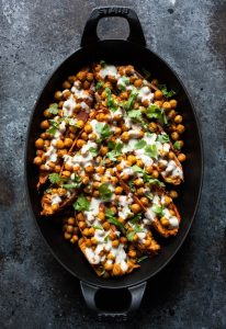 Tandoori Chickpea Stuffed Sweet Potatoes