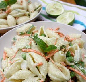 Vegan Pasta Salad with Avocado Lime-Basil Aioli
