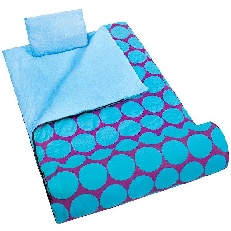 Wildkin Big Dot Aqua Original Sleeping Bag