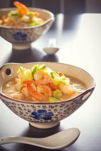 Asian Chicken & Shrimp Soup