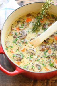 Creamy Chicken & Mushroom Soup