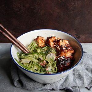 Cucumber Noodle & Radish Salad