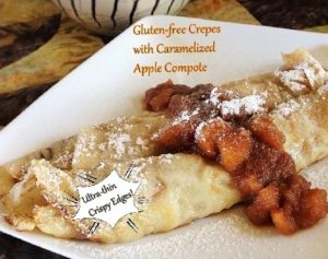 Gluten-free Crepes with Caramelized Apple Compote