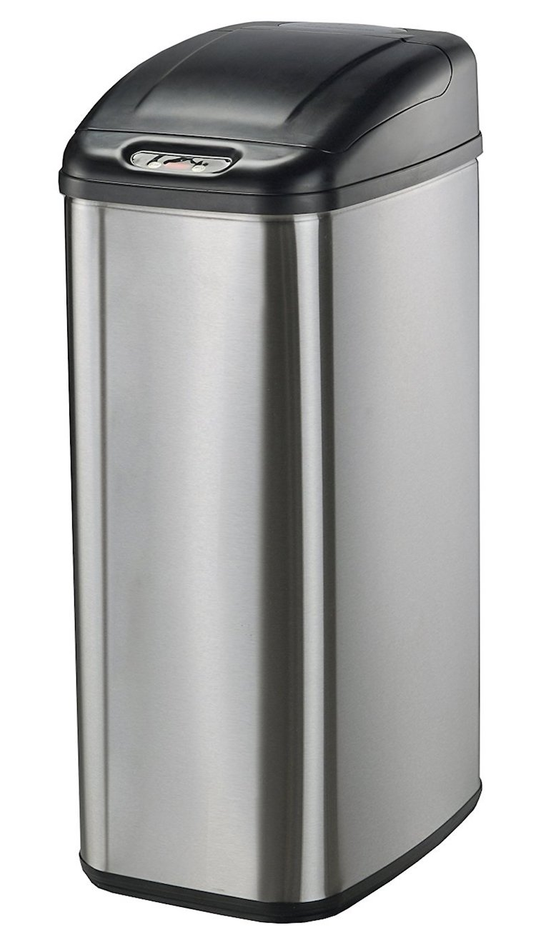 Nine Stars DZT-50-6 Infrared Touchless Stainless Steel Trash Can