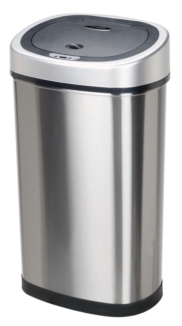 Nine Stars DZT-50-9 Infrared Touchless Stainless Steel Trash Can