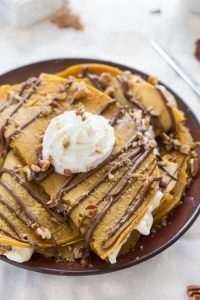 Nutella Covered Pumpkin Crepes