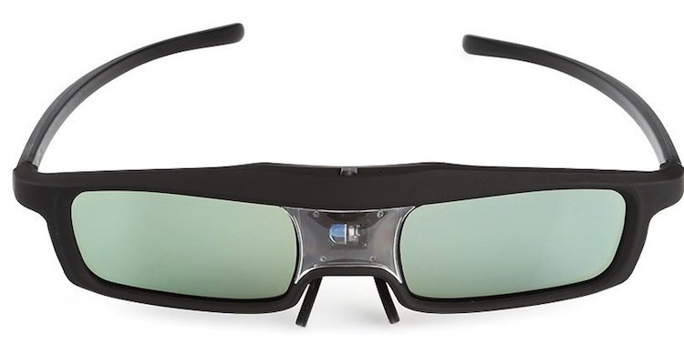SainSonic Rainbow Series Black 3D Active Glasses
