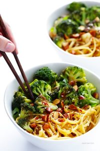 Sesame Noodles With Broccoli & Almonds