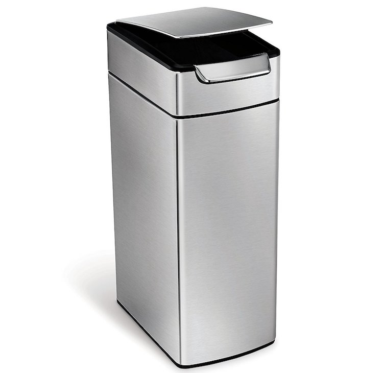 Simplehuman Slim Rectangular Touch-Bar Trash Can